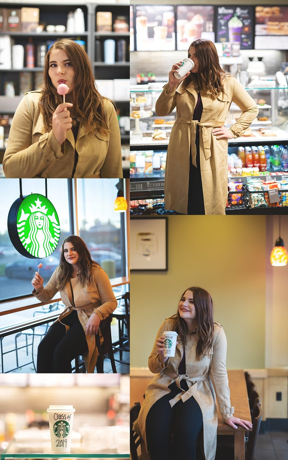 Starbucks Senior Photoshoot CLP