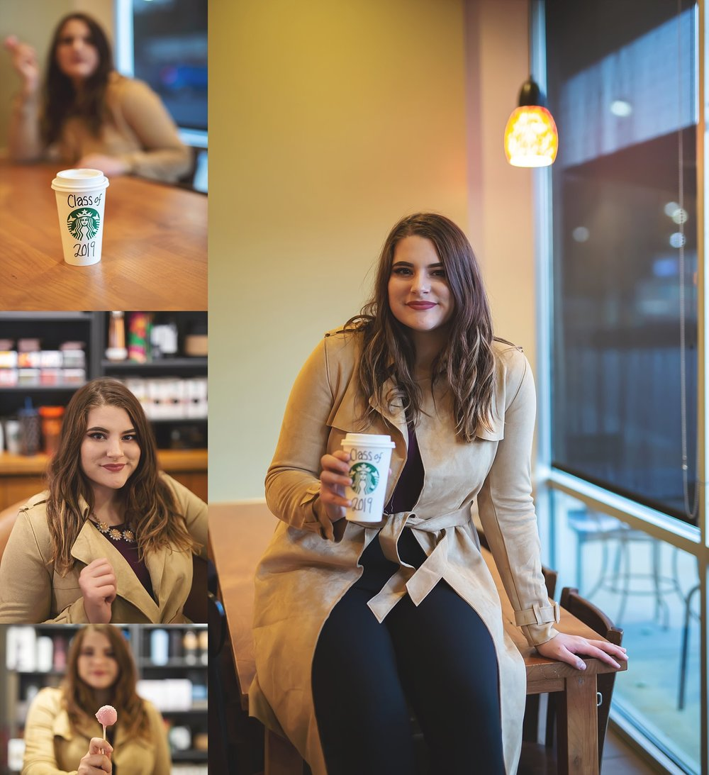 Starbucks Senior Session in Fenton, MO