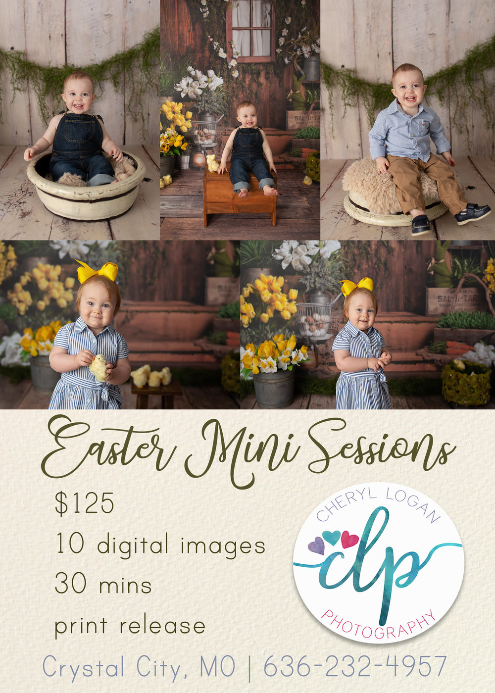 Easter Portraits with Toddlers.