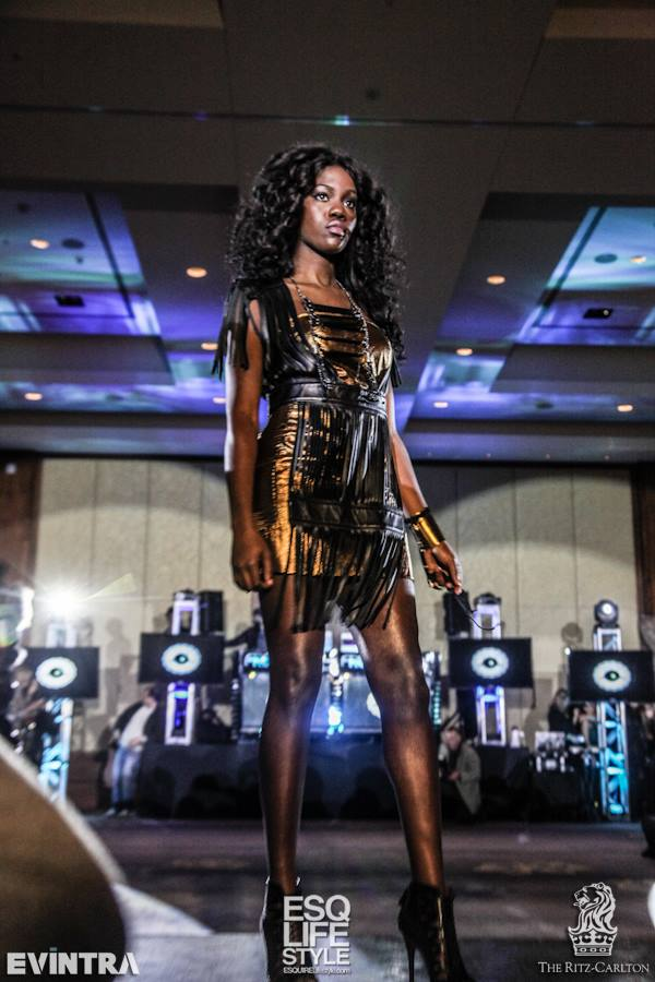 Bronze strapless dress w- leather breastplate.jpg