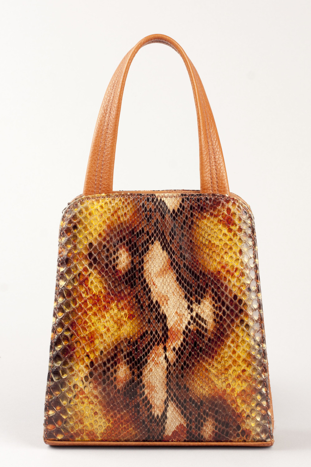 Painted Python Day Bag - Caramel