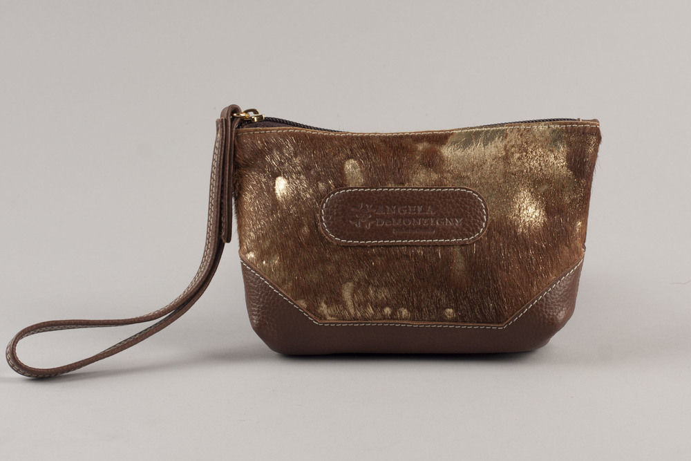 Jackson Wristlet - Gold/Brown
