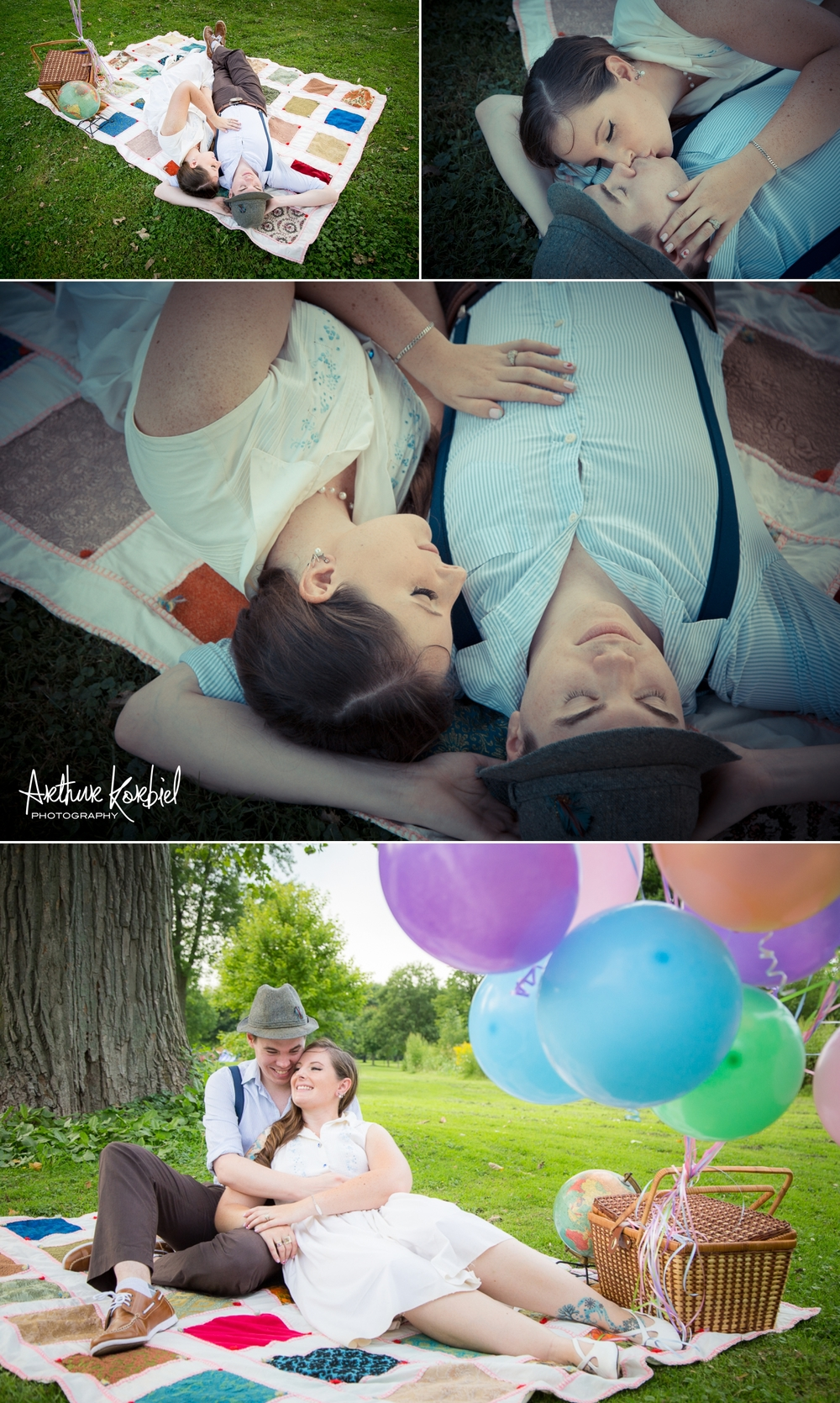 Arthur Korbiel Photography - London Engagement Wedding Photographer - Vintage - Bag Lady Variety - Gibbons Park_011.jpg
