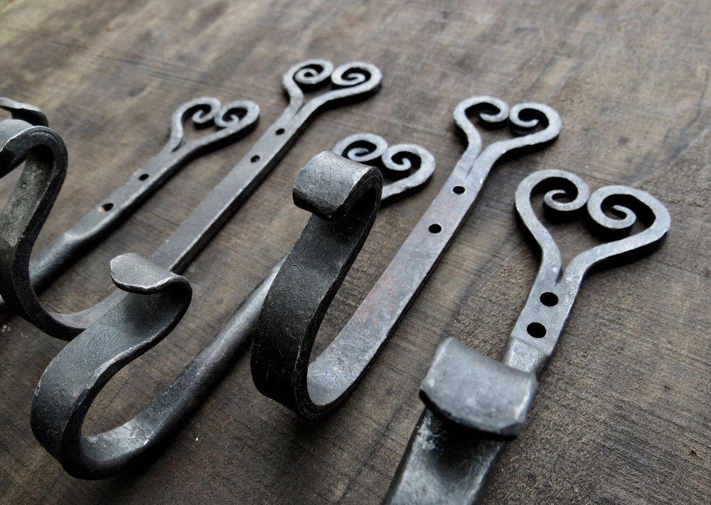 Heart hooks (5), mild steel, 2018