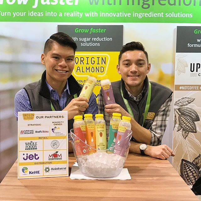 Team OA slinging Almond Juice at Expo West #2117 - if you're attending, we'd love to see you!  #expowest #expowest2019 #natprodexpo #originalmond #minorityowned #hustle #startup #startuplife