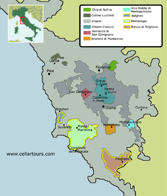 Wine Region Italy Map.A Guide To Italian Wine Fermented Grape The World Of Wine