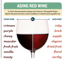 characteristics of aging wine