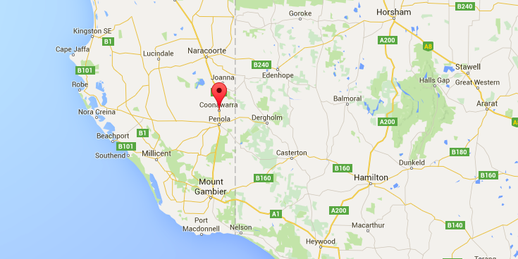 Coonawarra Wine Region, South Australia map