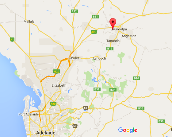 barossa valley, south australia map