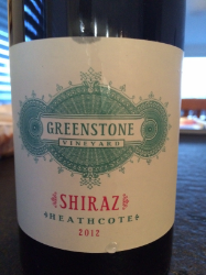 Greenstone Vineyard Shiraz 2012, Heathcote, Australia