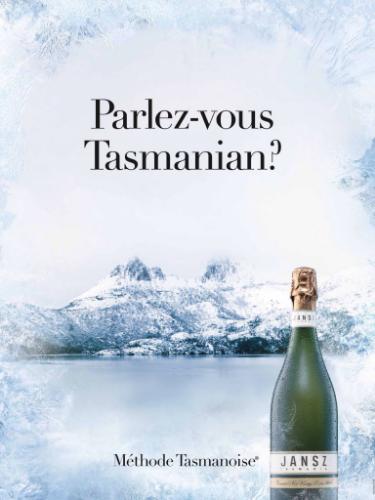 parlez vouz tasmanian wine ad Jansz