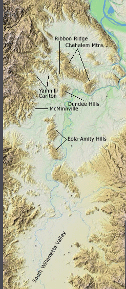 Williamette valley ava wine map