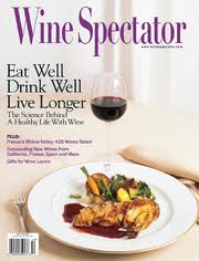 wine spectator Eat well drink well live longer