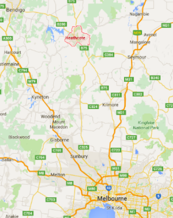 heathcote wine region location map