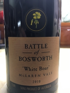 Battle of Bosworth White Board 2010, McLaren Vale, Australia