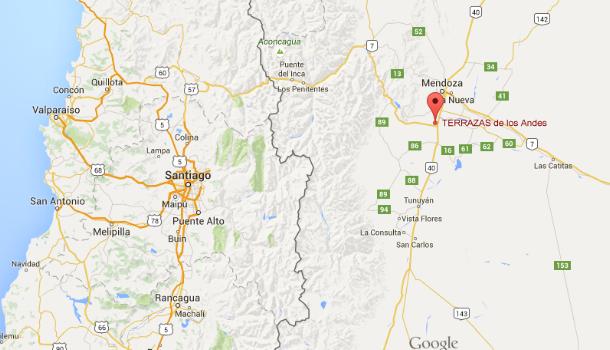 Terrazas de los Andes winery map
