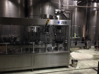bottling and labelling machine