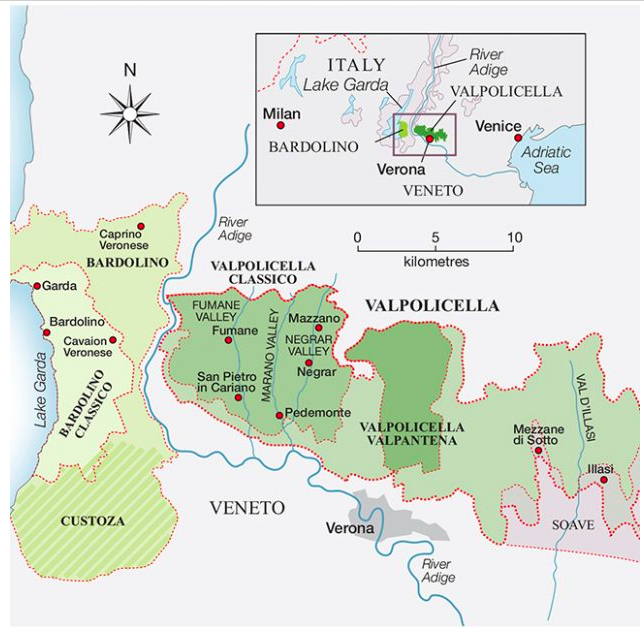 Valpolicella wine map