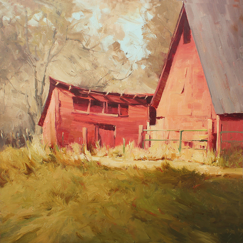 "SOLD ""View From the Apple Orchards"" AWARD WINNING: Master Class Finalist in Art Muse Contests October Competition"