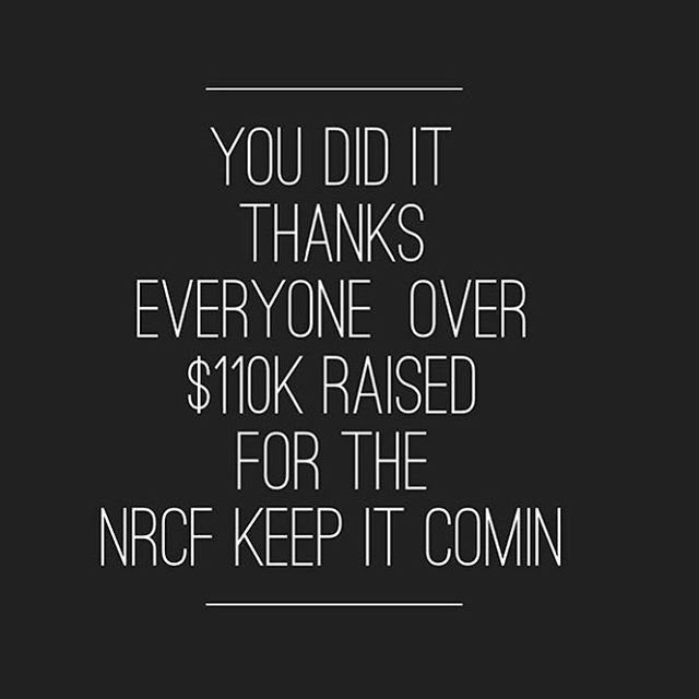 Congratulations everyone who was part of the recent @thenrcf fundraiser. Happy to have contributed to $110k raised! 💛