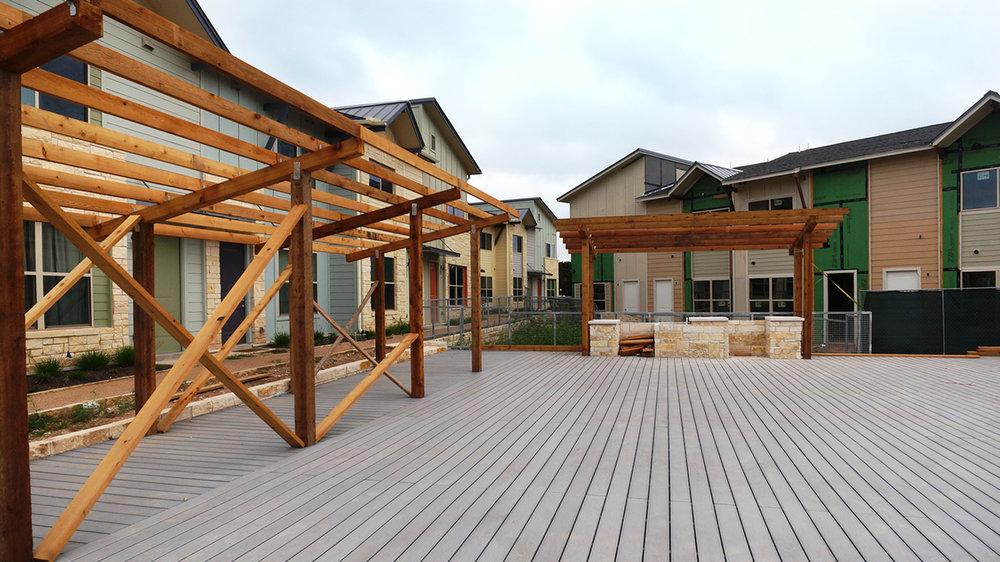 Central courtyard progress
