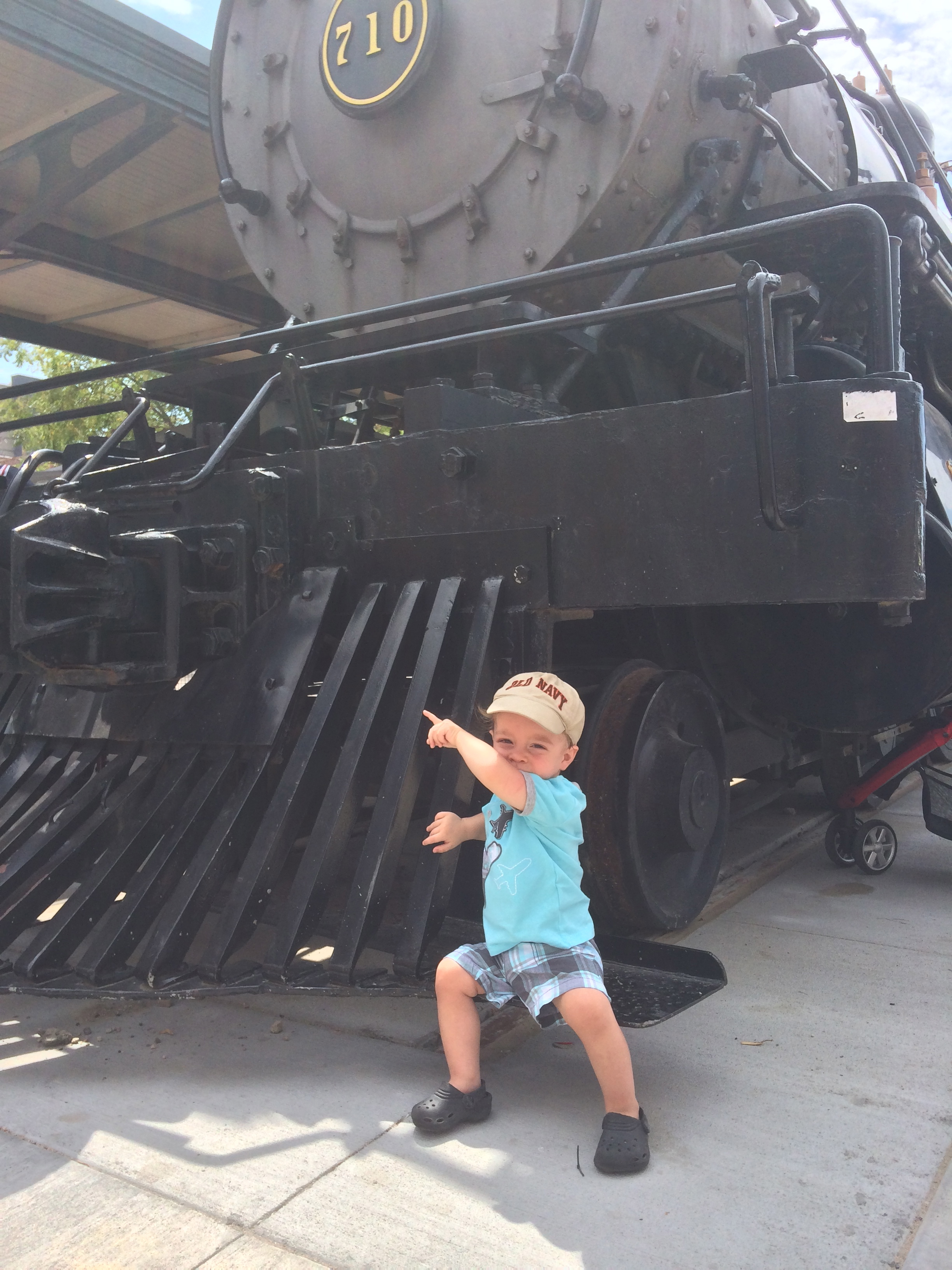 Callan's favorite day of the summer.  Choo-Choo!!!