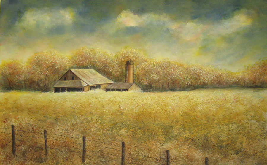 Barn in Open Field (05-03391)