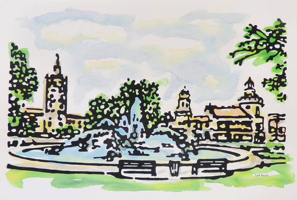 Plaza Fountain (14-23598)