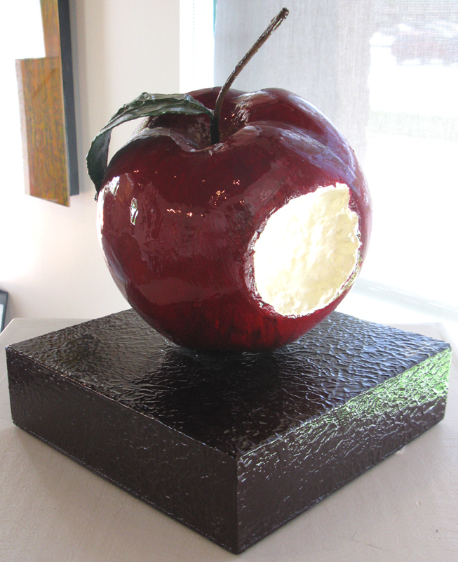 Red Apple with Bite (10-02209)