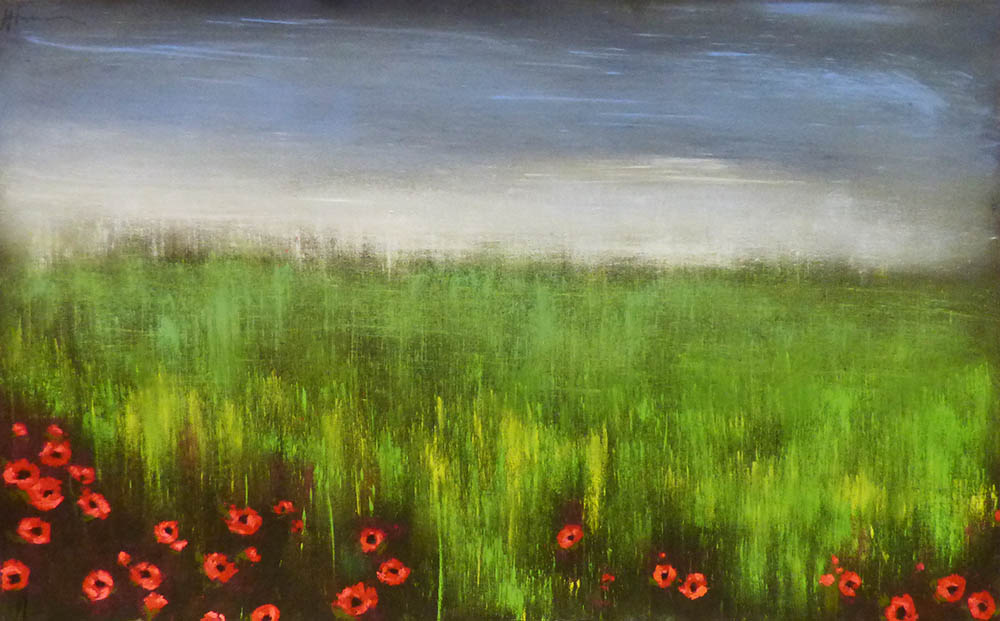 Soft Sky with Prairie Poppies(16-24222)