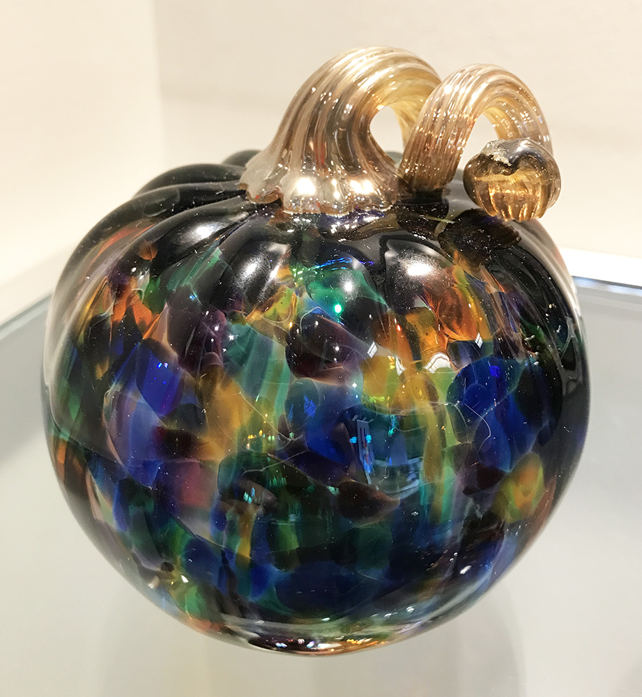 Glass Pumpkin, Jewel Tones (17-24644)
