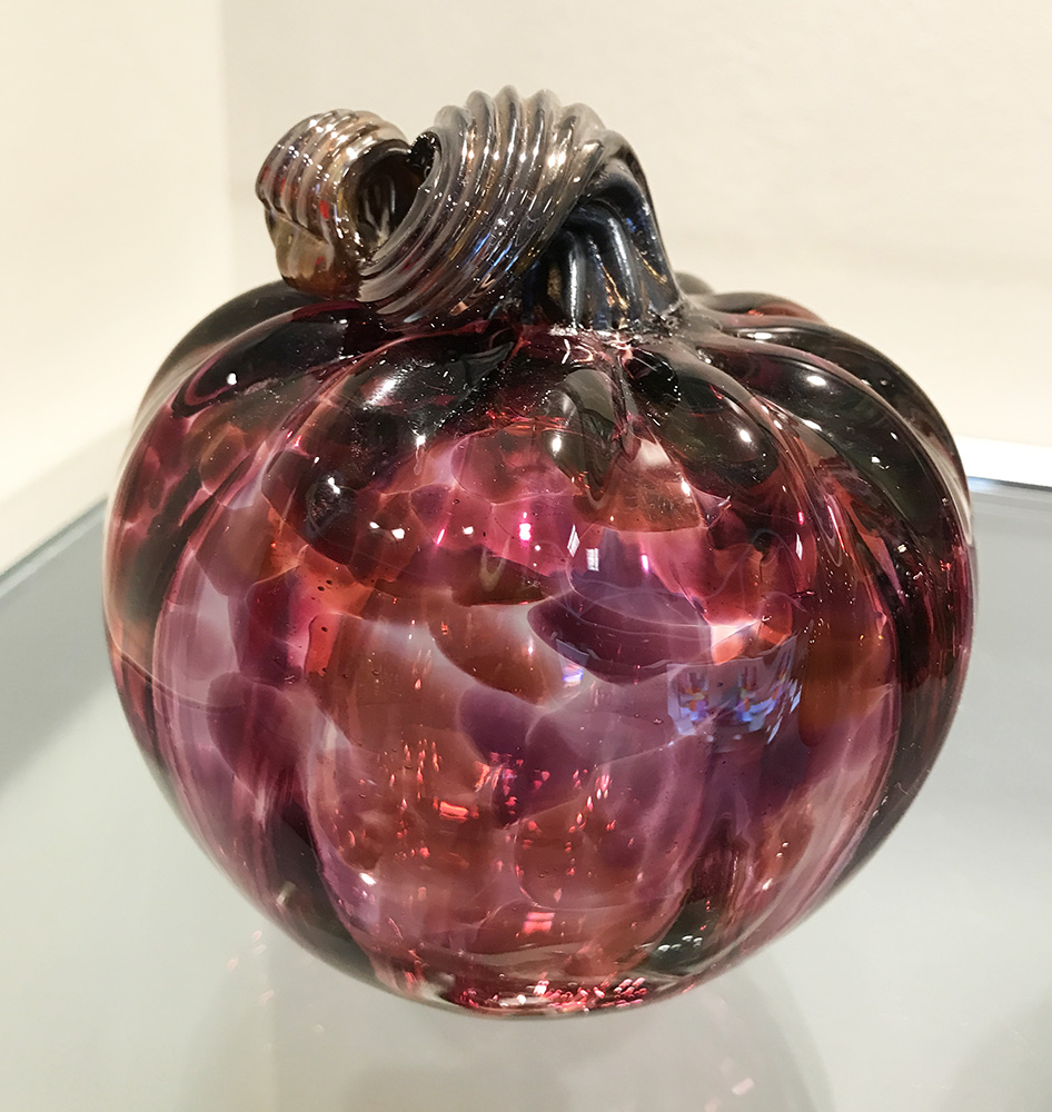 Glass Pumpkin, Fuschia (17-24645)