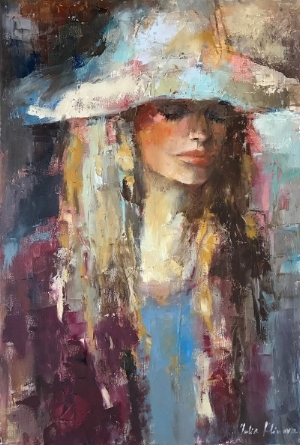 "Julia Klimova,  Long Summer , 24x36"", oil on canvas"