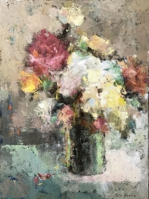 "Julia Klimova,  Premonition of Winter , 36x48"", oil on canvas"