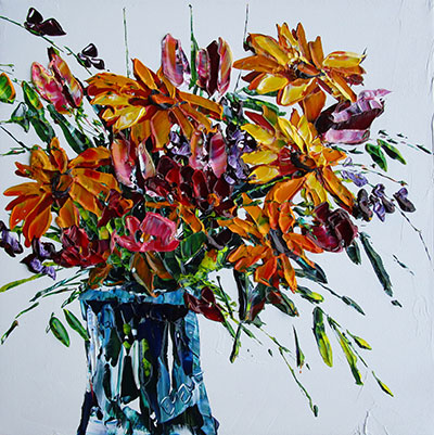 SOLD PP-15112 Eventov Floral Vase 16x16 acrylic on canvas.jpg