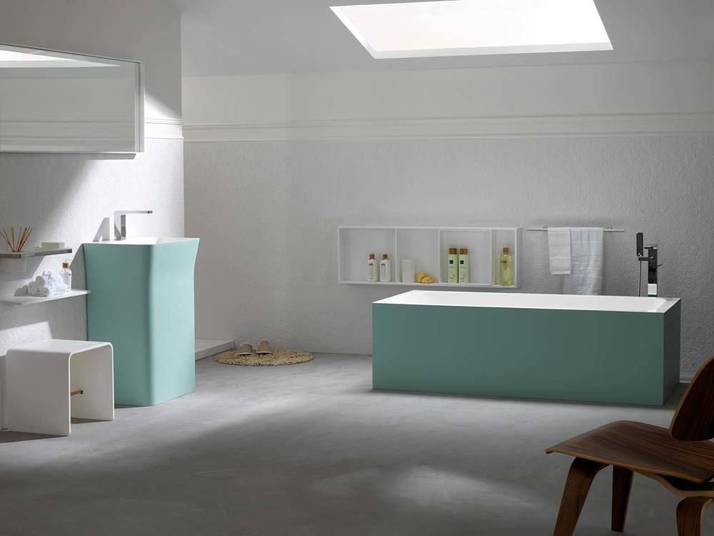 Krion bathroom products harvest building products for Porcelanosa carrelage cuisine