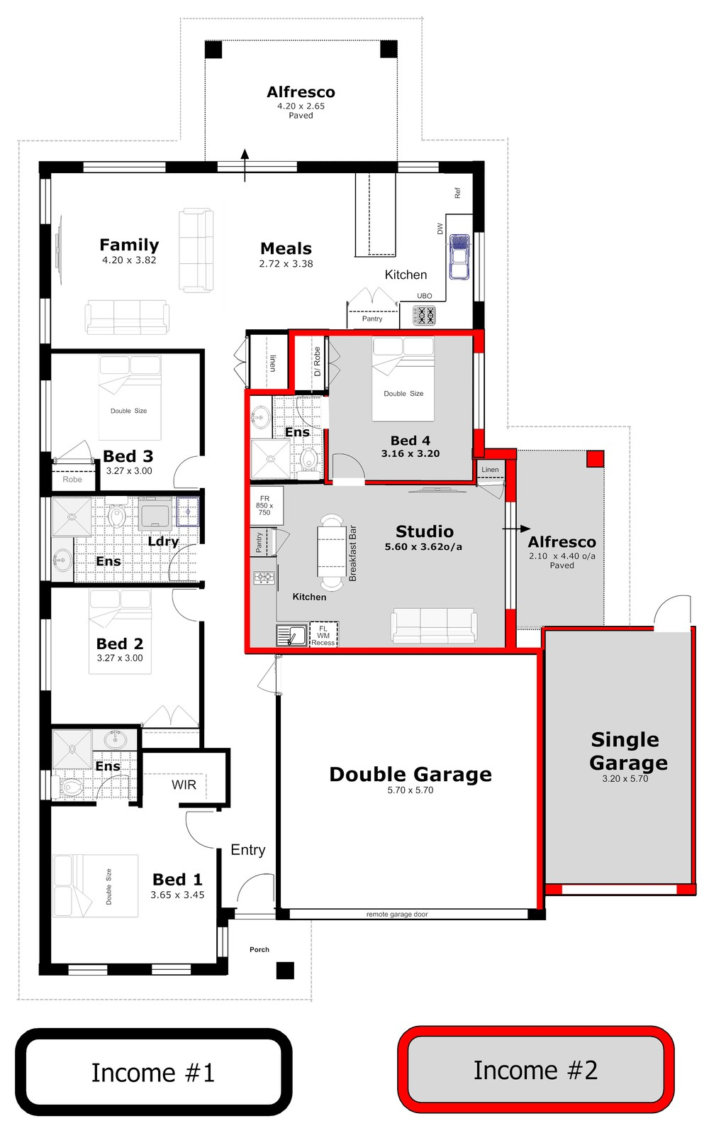 What is dual occupancy for Dual living house plans