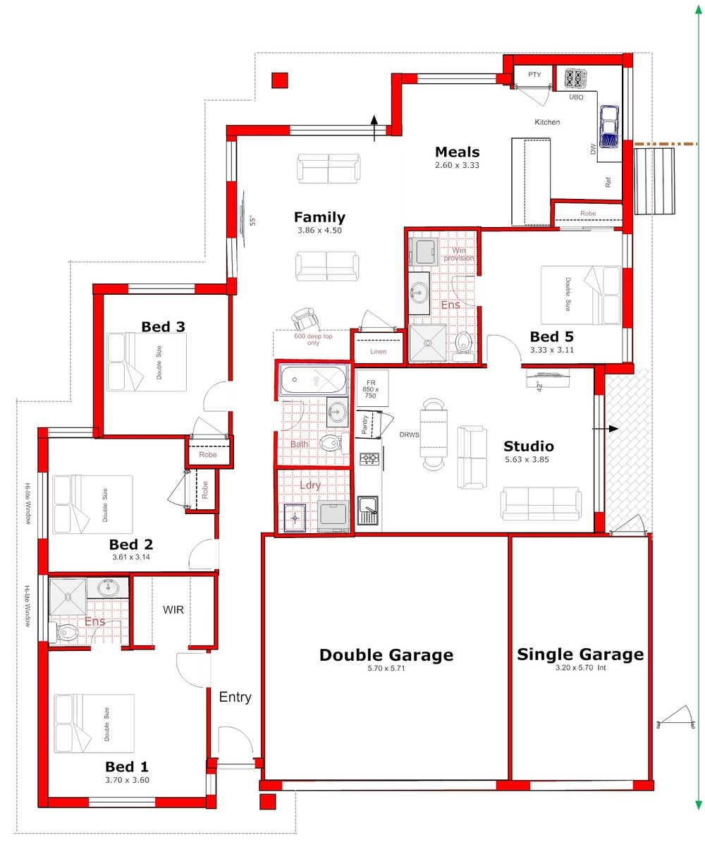 Designs for House plans with income suite