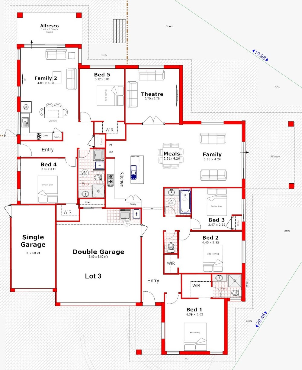 Dual occupancy house plans house plans for Dual occupancy home designs sydney