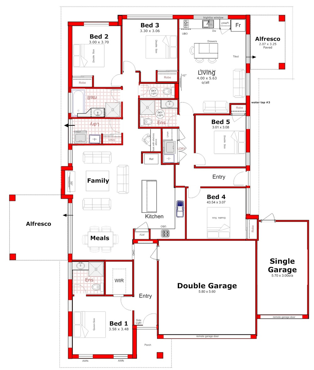 House plans with granny flat attached home design and style for Granny flats floor plans