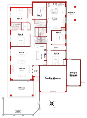 House plan with granny flat attached house design plans for House designer plan