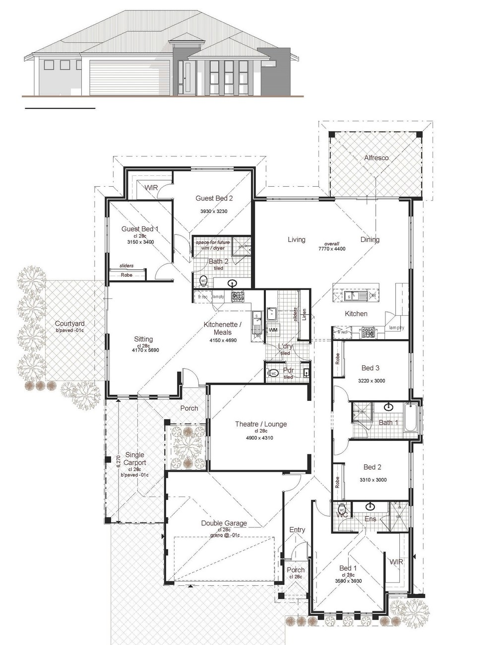 Elegant 207 Dual Living Custom Design Perth Two Family