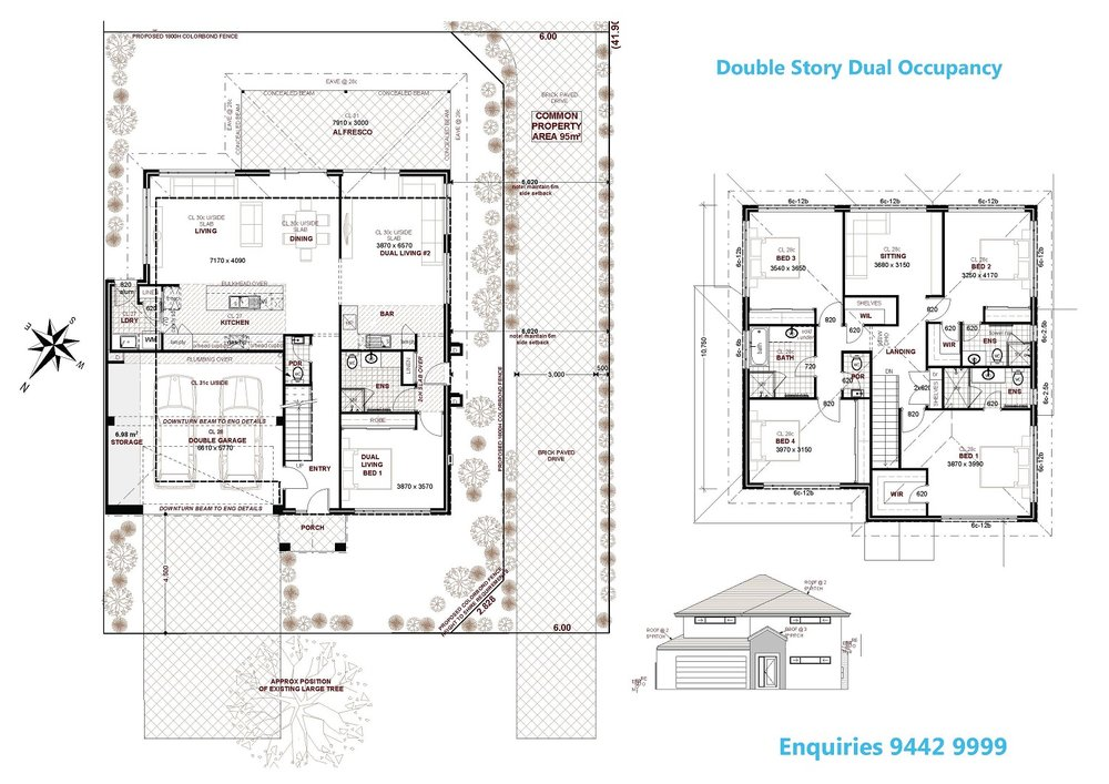 Designs for Dual occupancy home designs