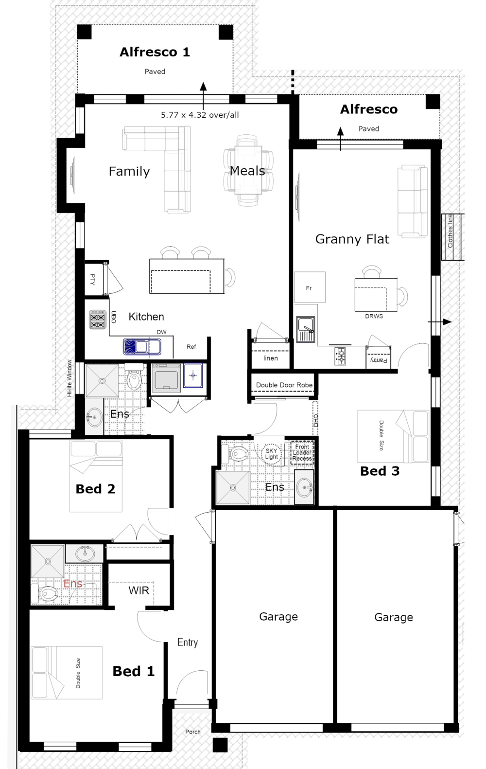 Designs for Multigenerational house plans with two kitchens