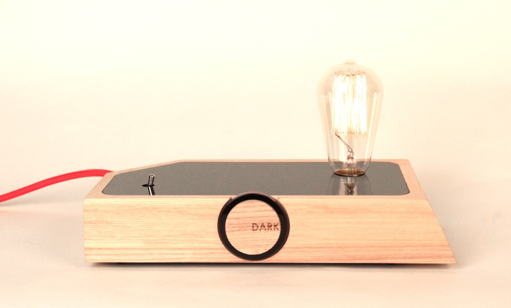 ECC Lighting Award and Supreme Winner 2013 DARK TABLE LAMP by Hayden Maunsell