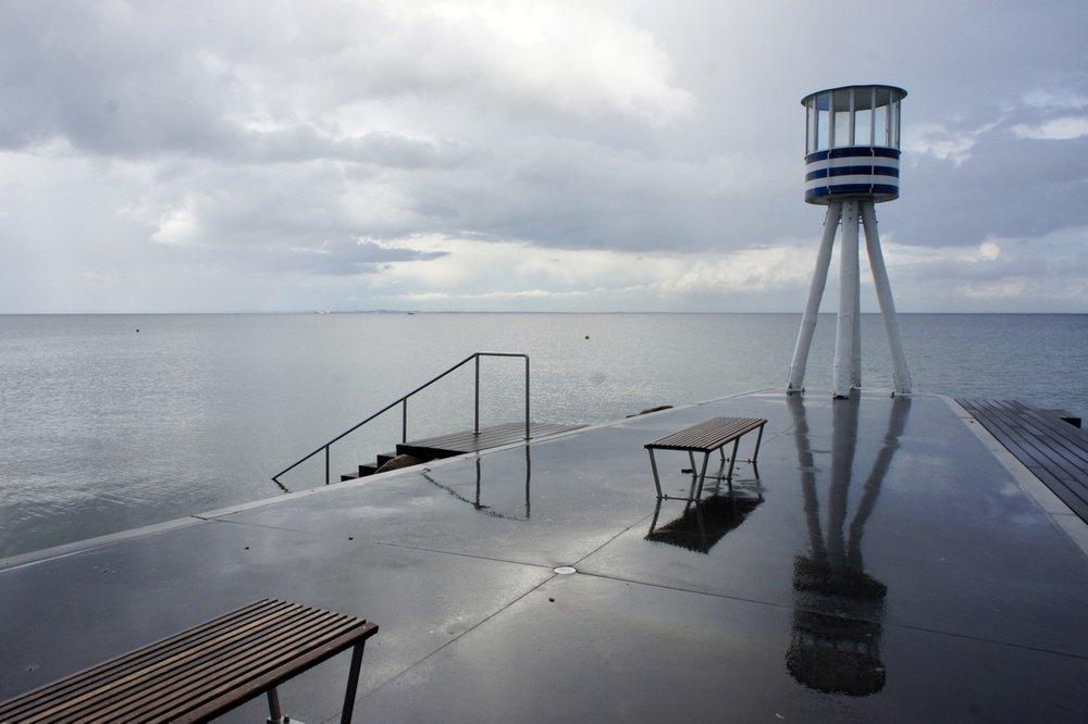 Bellevue strand, Redderstoren door Arne Jacobsen
