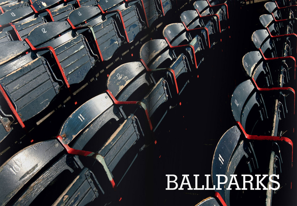 Rows of seats at a ballpark