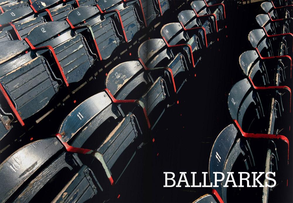 Rows of seats at a ballpark