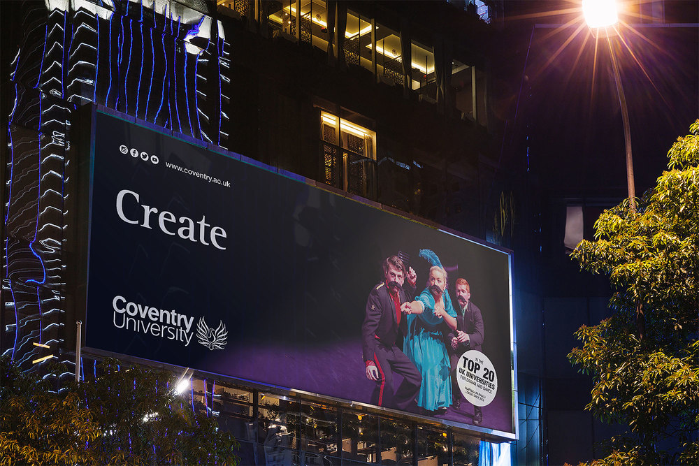Coventry University Create billboard advert