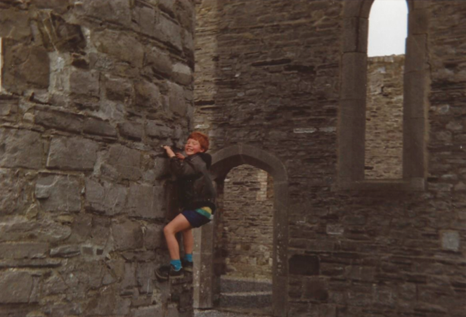 Starting early - Climbing the 8th Century Round Tower at Taghadoe